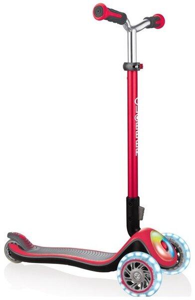 Тротинетка Elite Prime със светещи колела - Червена