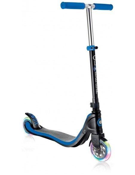 Тротинетка за тийнейджъри Flow 125 Light със светещи гуми - тъмно синя