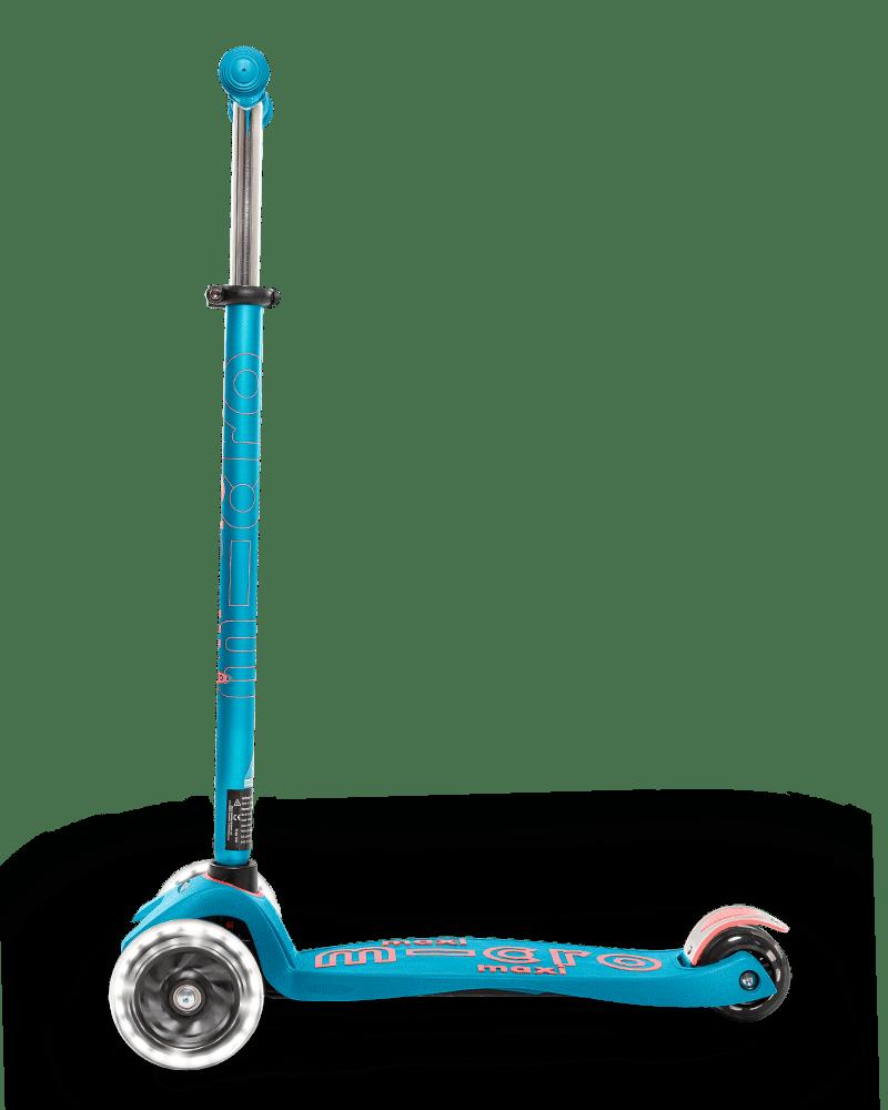 Тротинетка Micro Maxi Deluxe LED  Carribean Blue