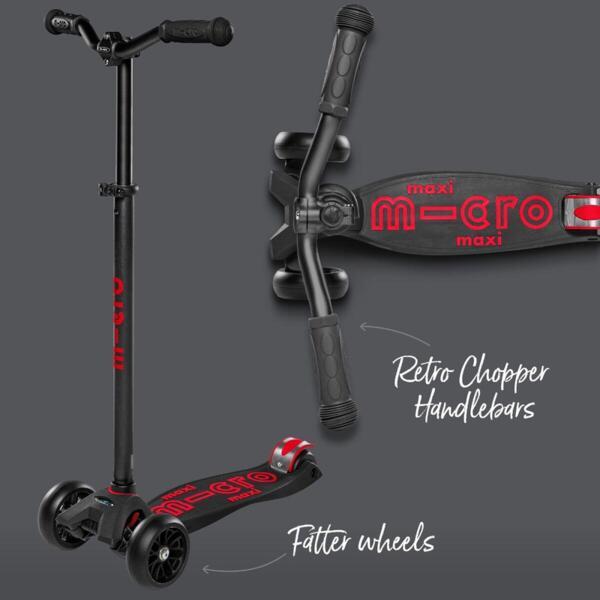 Тротинетка Micro Maxi Deluxe Pro Black/Red