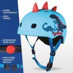 Каска за тротинетка Micro 3D Scootersaurus