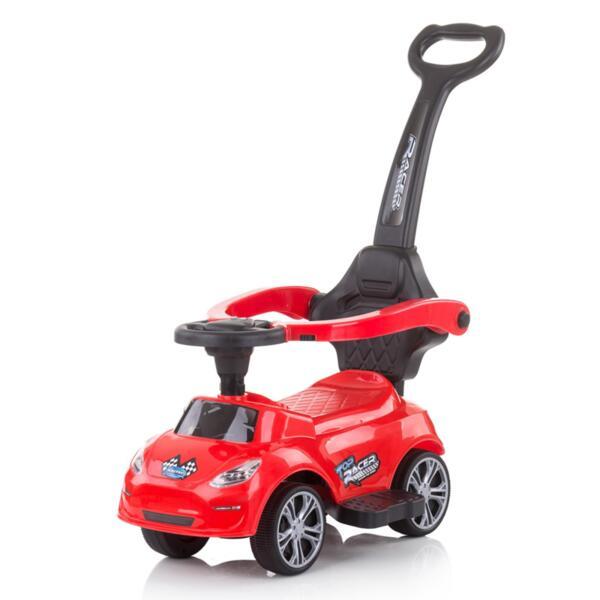Кола за яздене с дръжка Турбо червена