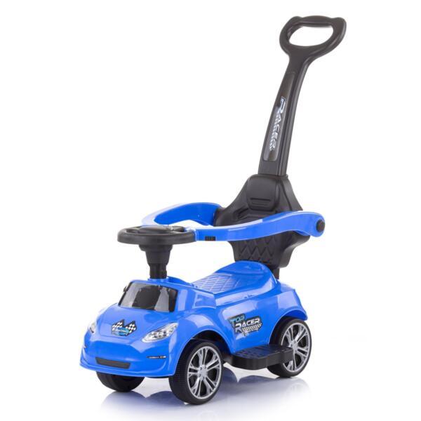Кола за яздене с дръжка Турбо синя