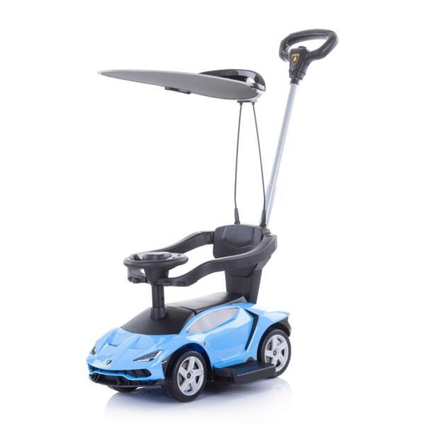 Кола с дръжка/сенник Lamborghini синя
