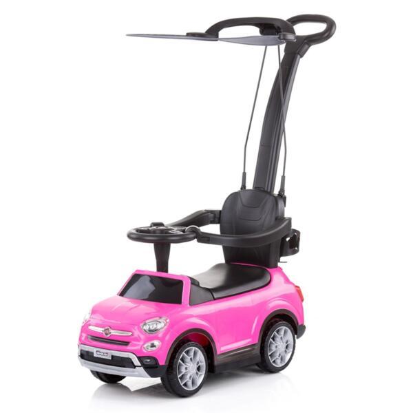 Кола с дръжка/сенник Фиат500X розова