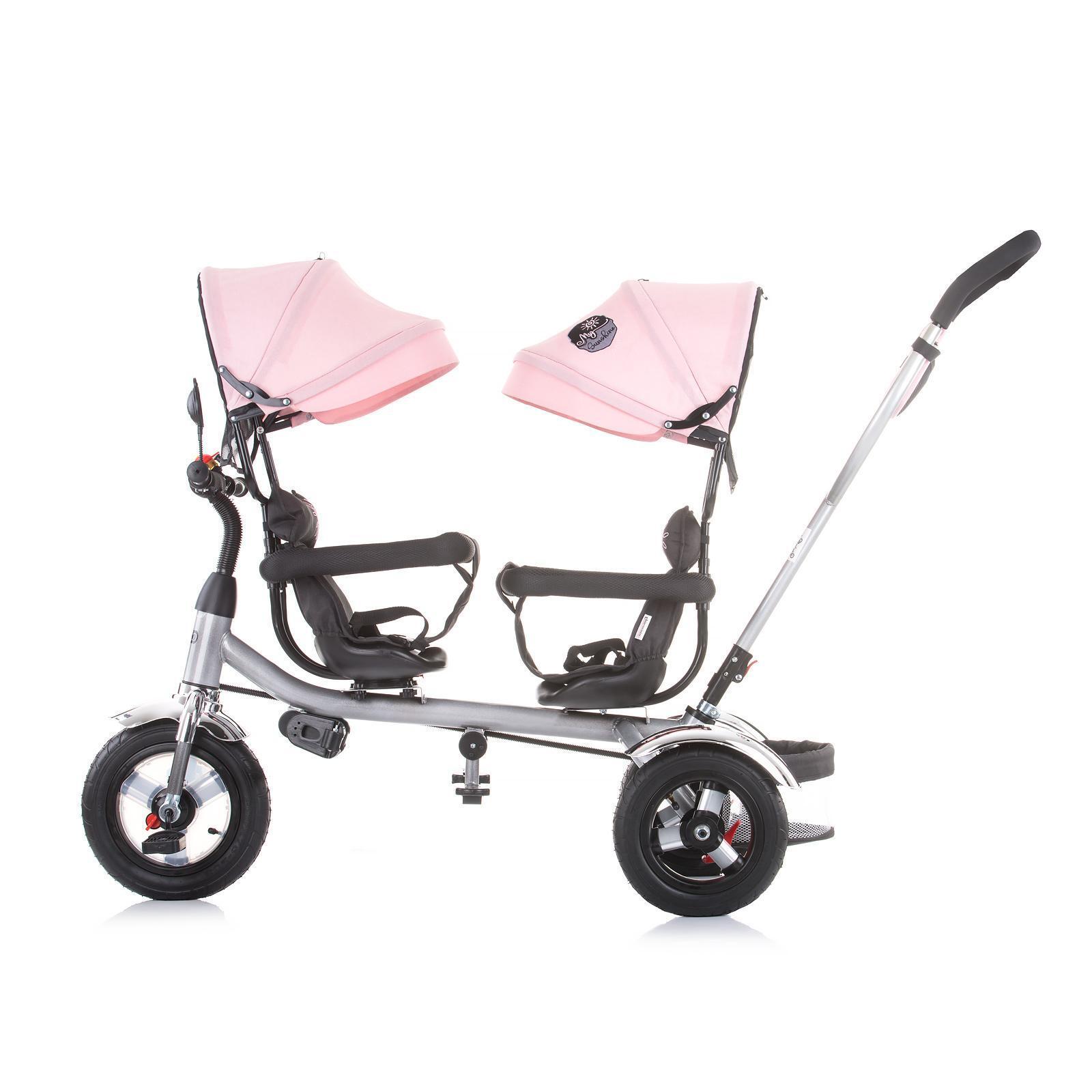"Chipolino Триколка за близнаци ""2PLAY""розов божур"