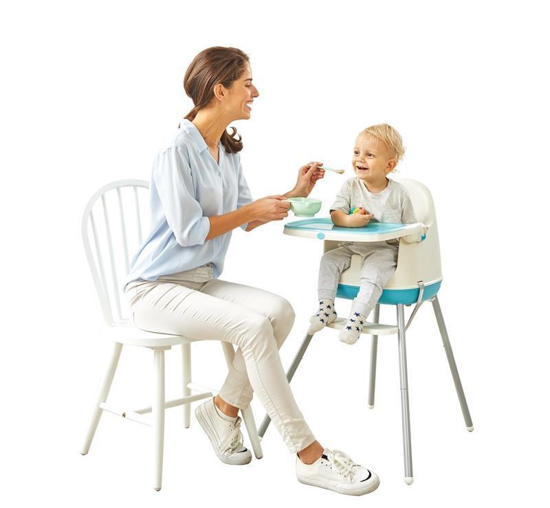 "Chipolino Стол за хранене 3 в1 ""Пудинг""син божур"