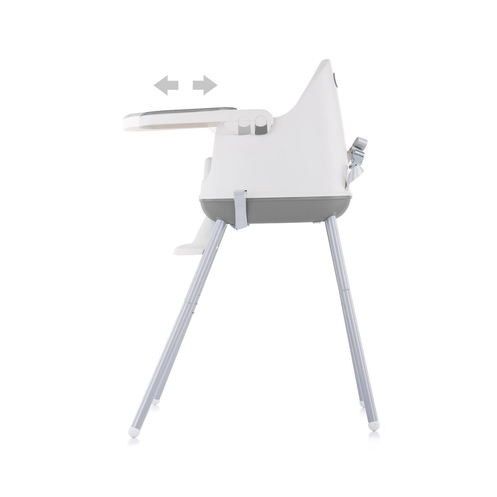 "Chipolino Стол за хранене 3 в1 ""Пудинг"" сив"