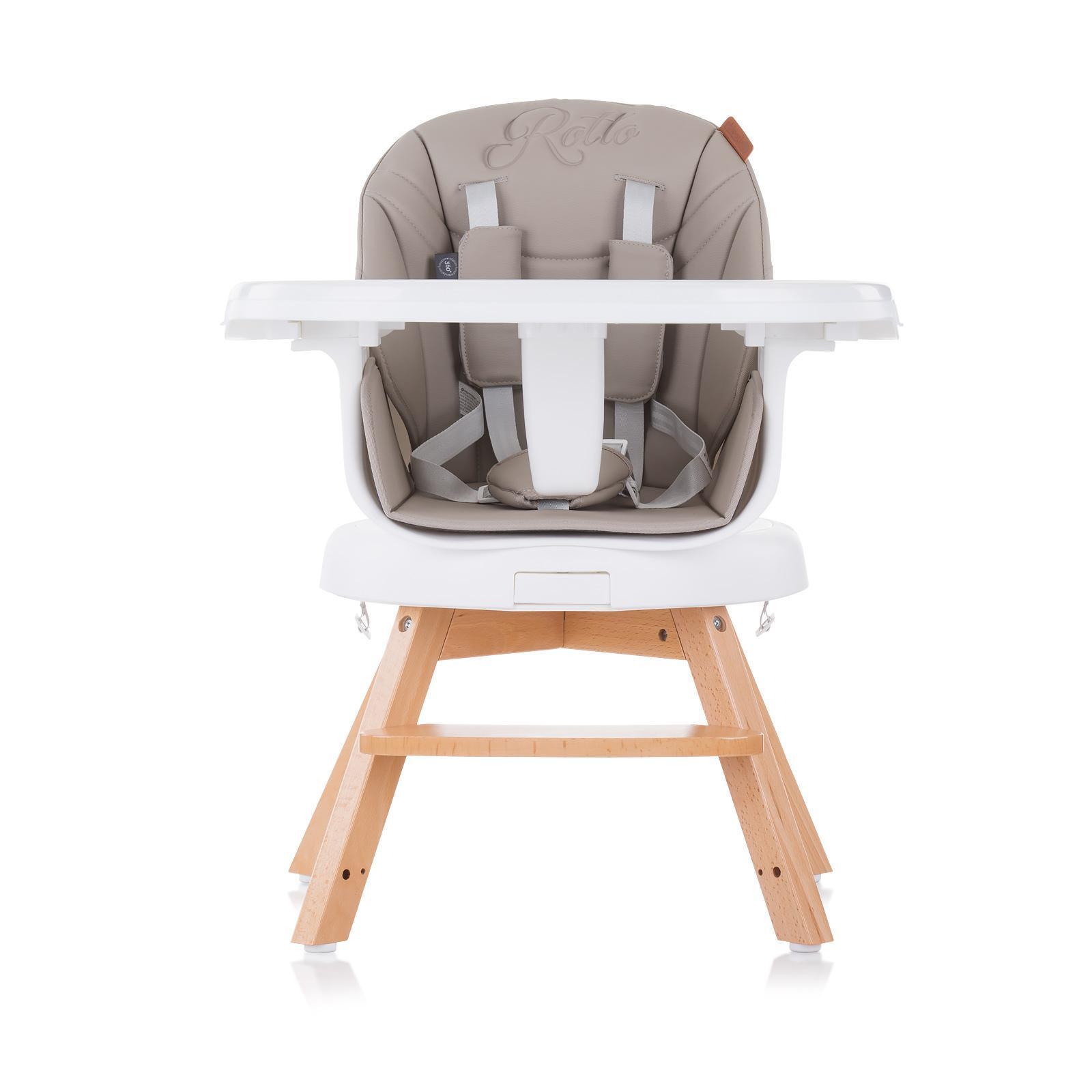 """Chipolino Въртящо столче за хранене 3в1""""Рото""""лате"""
