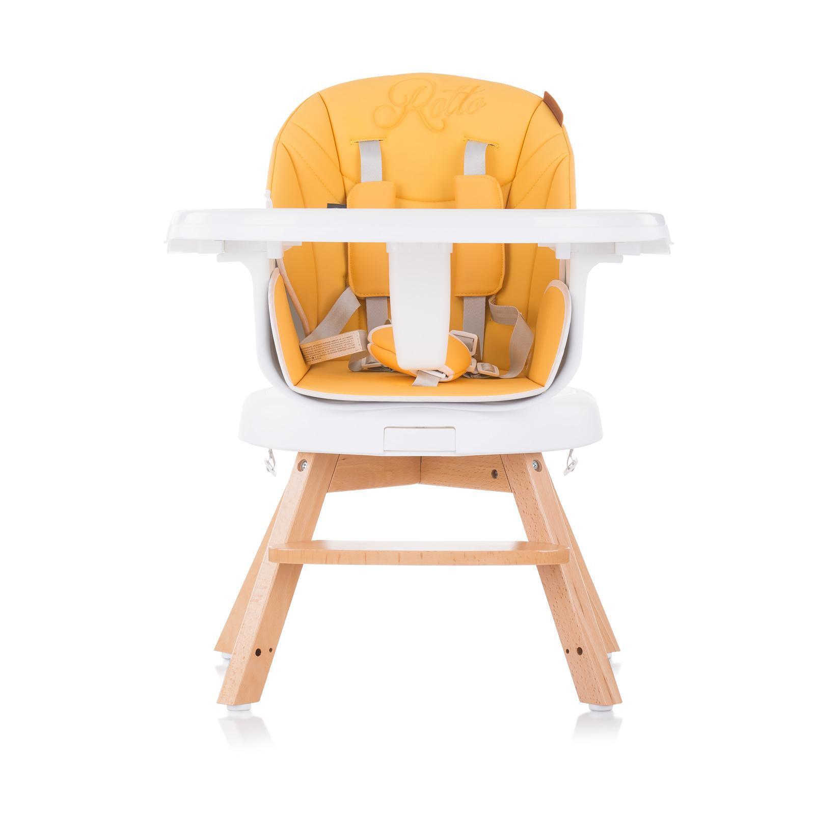 """Chipolino Въртящо столче за хранене 3в1""""Рото""""пъпеш"""
