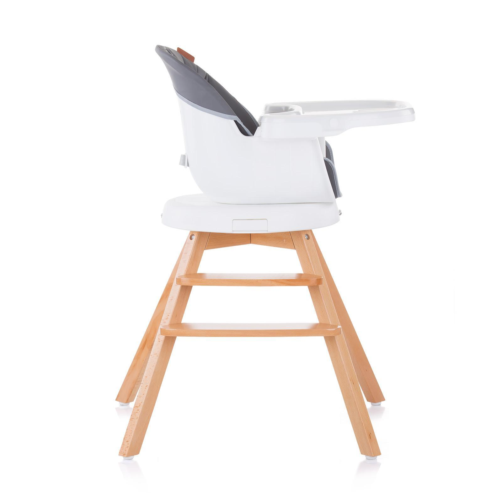 """Chipolino Въртящо столче за хранене 3в1""""Рото""""асфал"""