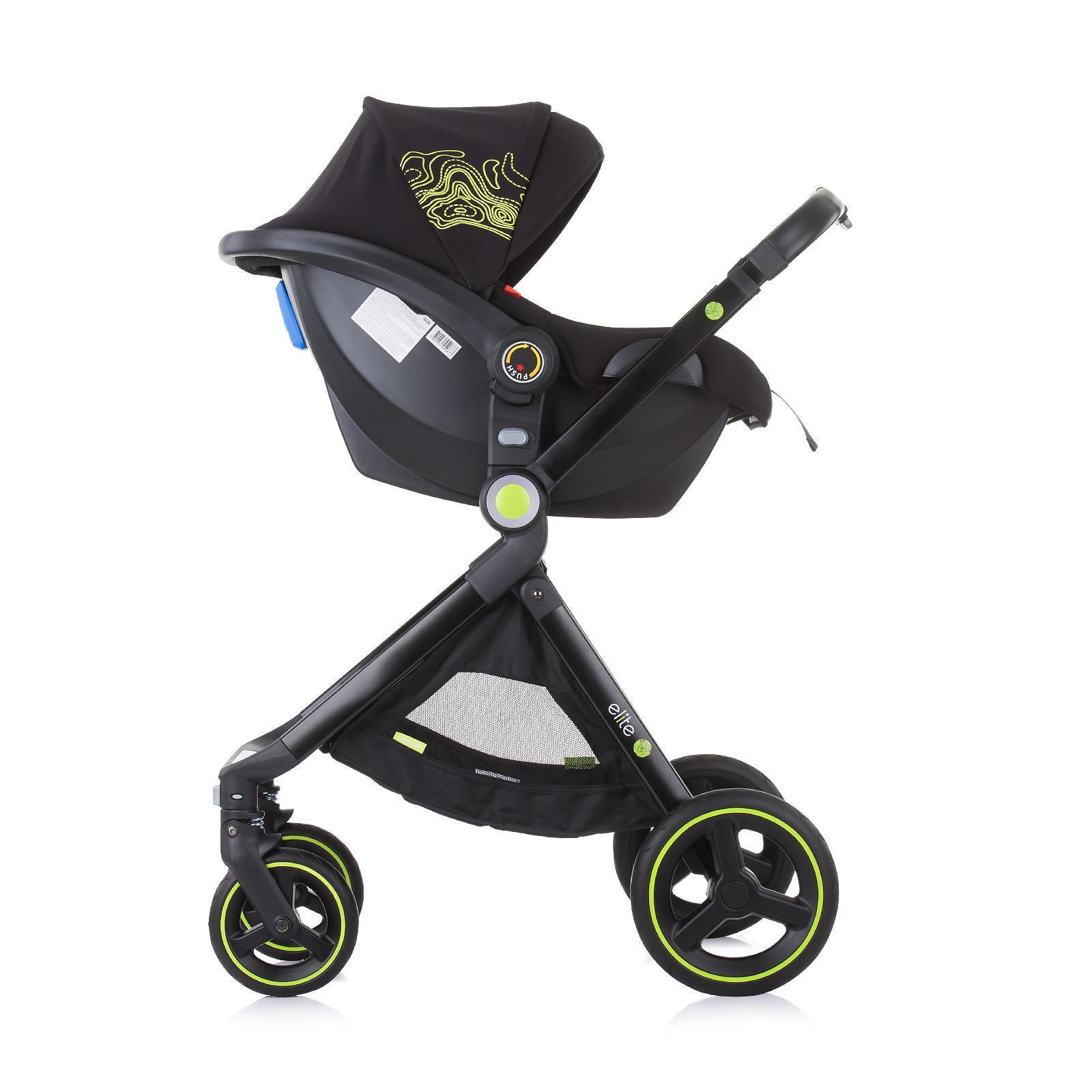 "Chipolino Детска количка до 22 кг ""Елит"" карбон"