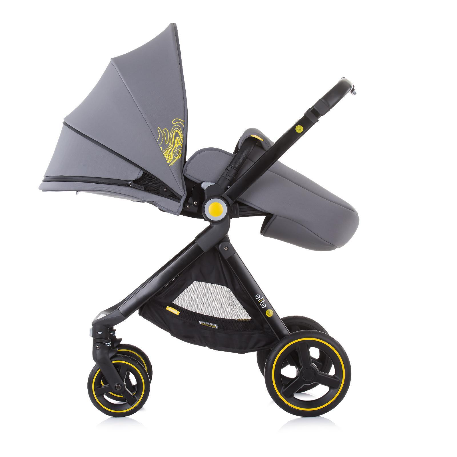 "Chipolino Детска количка до 22 кг ""Елит"" асфалт"