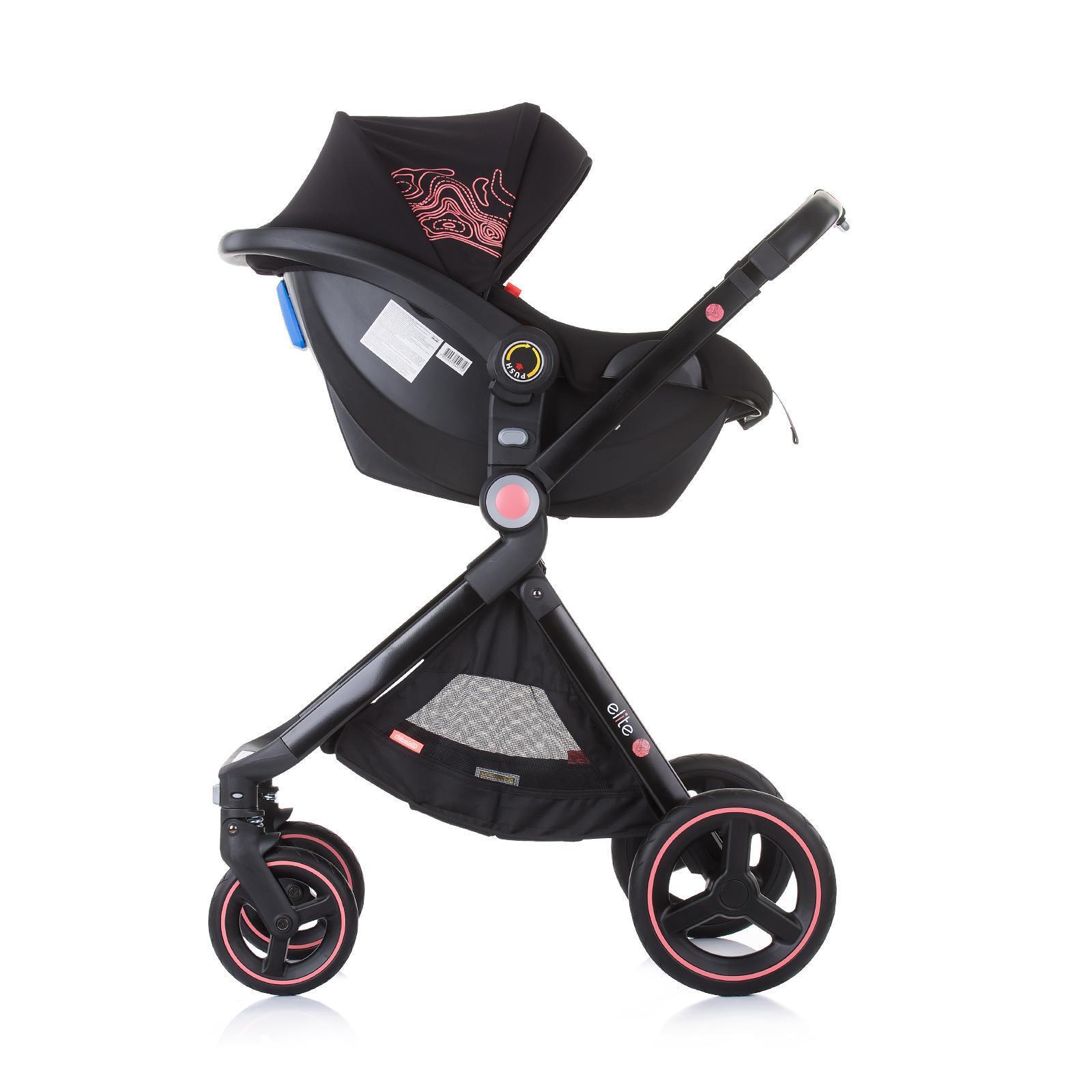 """Chipolino Детска количка до 22 кг """"Елит"""" далия"""