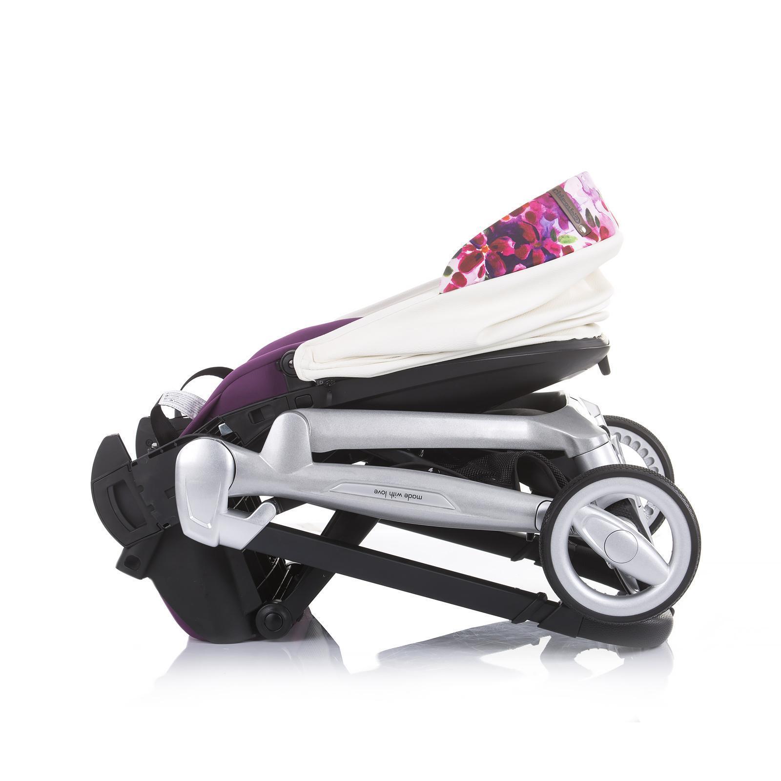 "Chipolino Детска количка ""Emotion"" бяла/цветя"