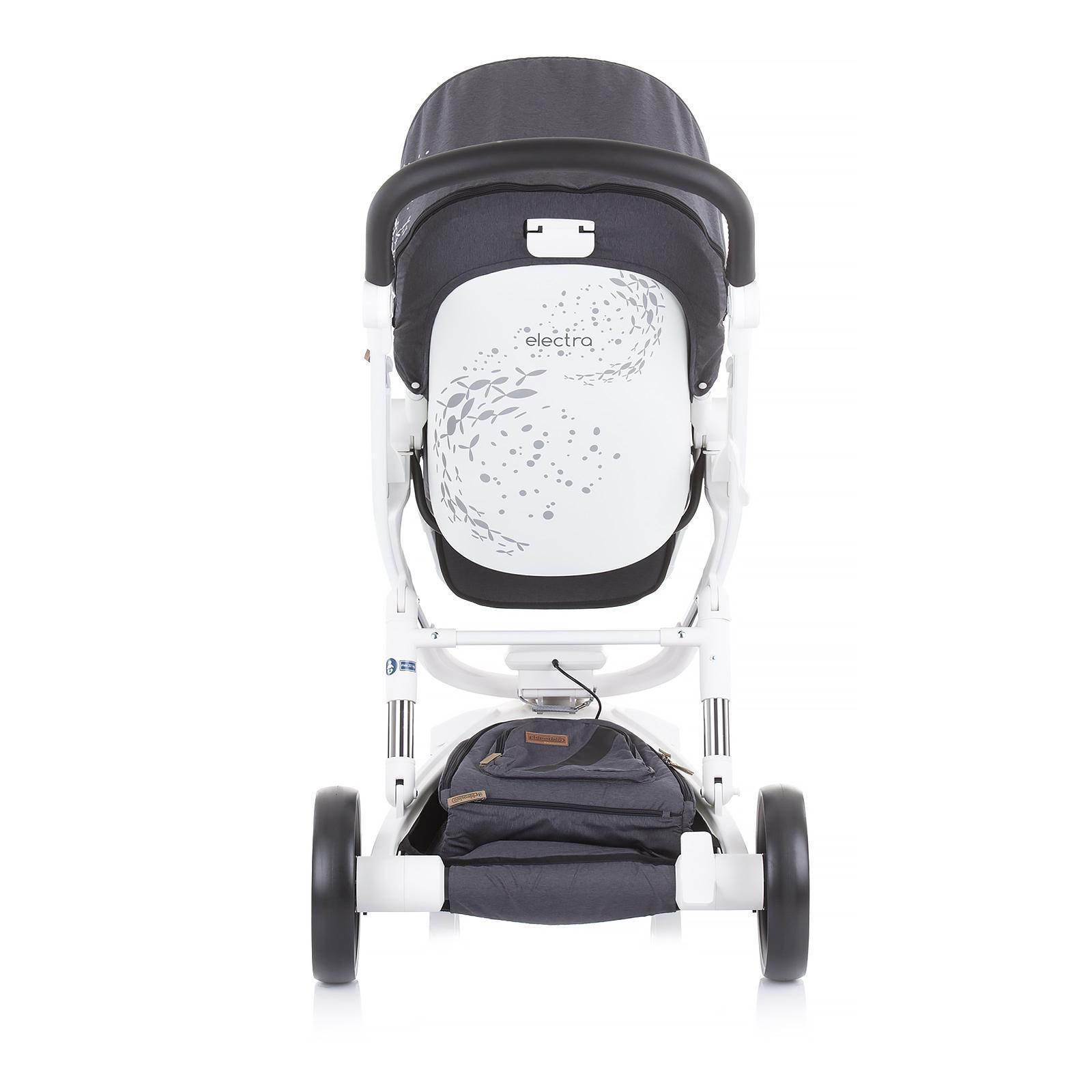 "Chipolino Детска количка Електра"" бяла рама сребро"
