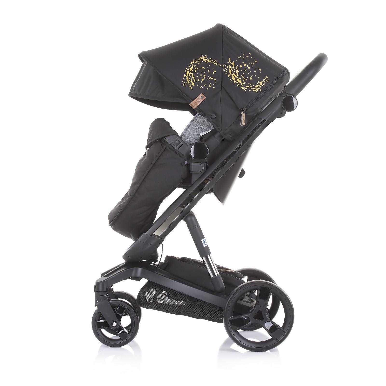 "Chipolino Детска количка Електра""черна рама злато"