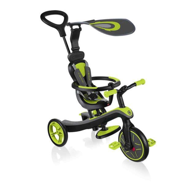 Детска триколка 4 в 1 Globber Trike Explorer, зелена