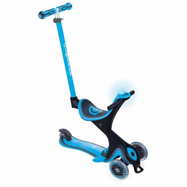 Тротинетка с родителски контрол 5в1 Globber Go Up Comfort Play - небесно синя