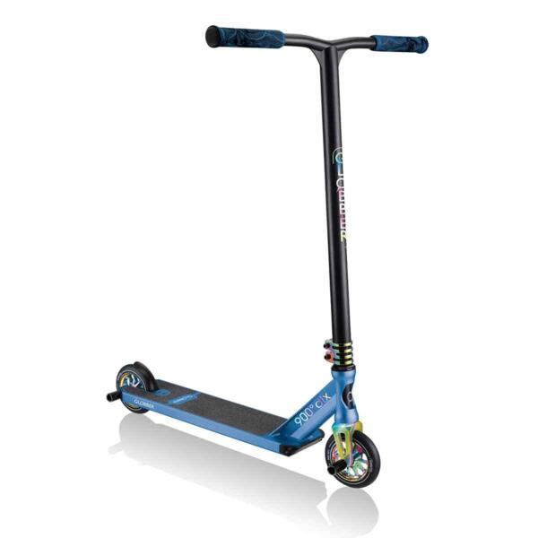 Ултраздрава фрийстайл тротинетка Globber GS 900 DELUXE - черна/синя
