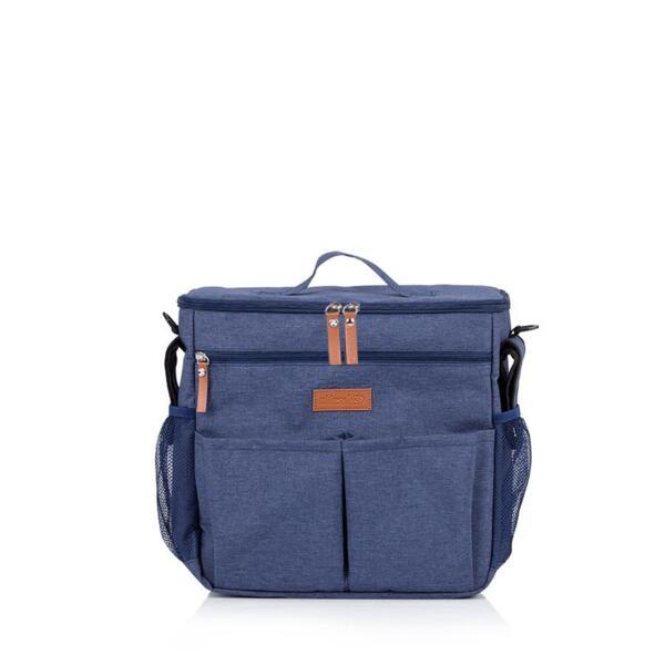 Chipolino Термо чанта-раница за количка син деним