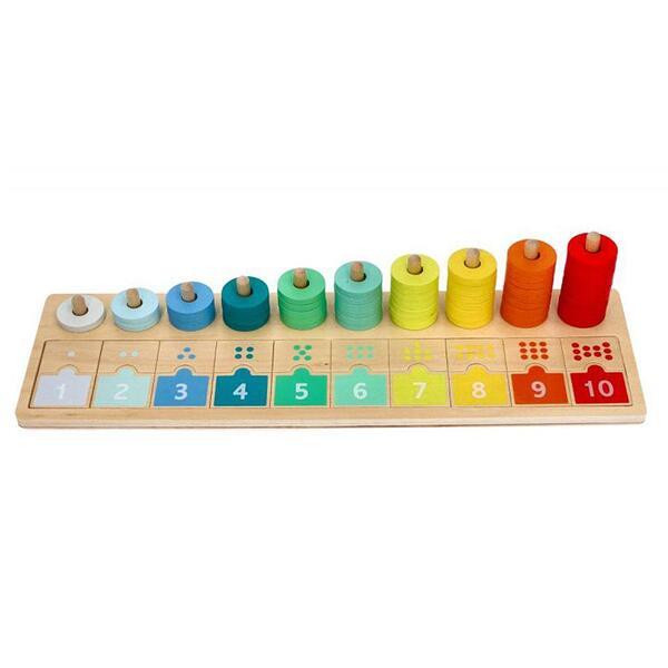 Lelin Toys, Дървена низанка, Научи се да броиш до 10
