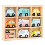 Lelin Toys, Комплект дървени автомобили и пътни знаци
