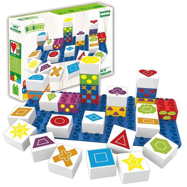 Конструктор BioBuddi - Кубчета с геометрични фикури