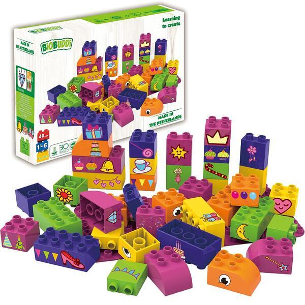 Конструктор BioBuddi - Образователни кубчета за момичета 40бр.