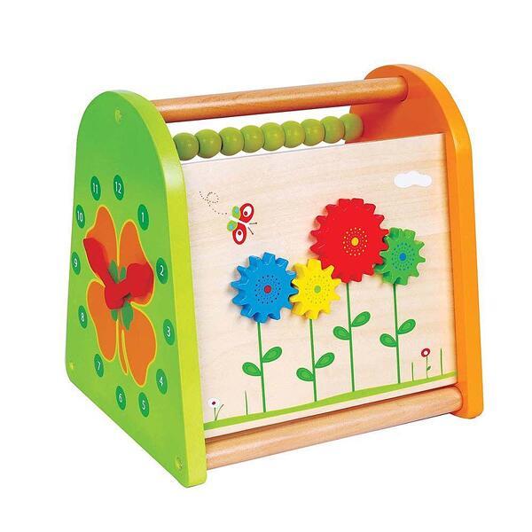 Lelin Toys, Дървена играчка за активни занимания, 4 в 1, Пролет