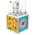 Lelin Toys, Голям дървен дидактически куб, Ферма