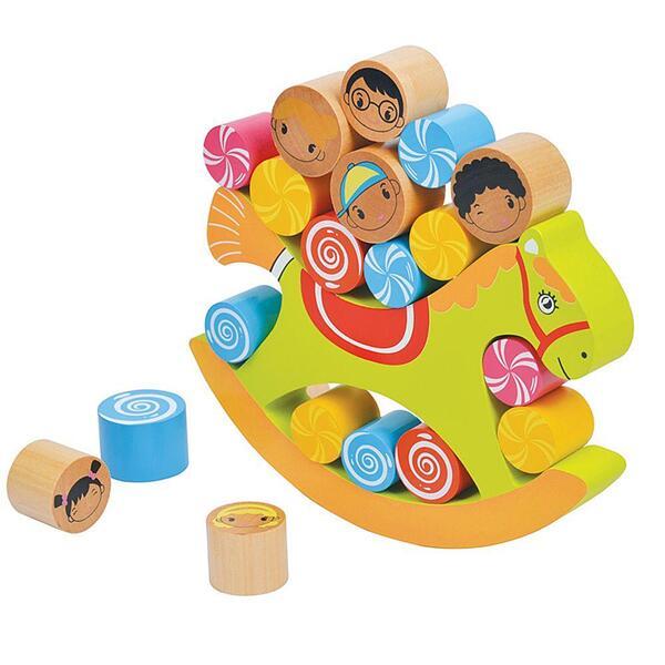 Lelin Toys, Дървена игра за баланс, Конче