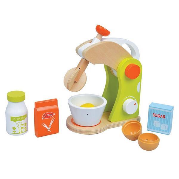 Lelin Toys, Детски дървен миксер с продукти