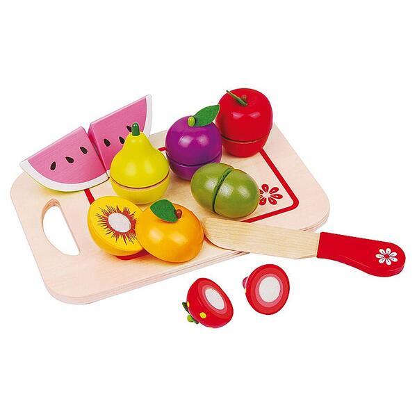 Lelin Toys, Дървени плодове за рязане, с дъска