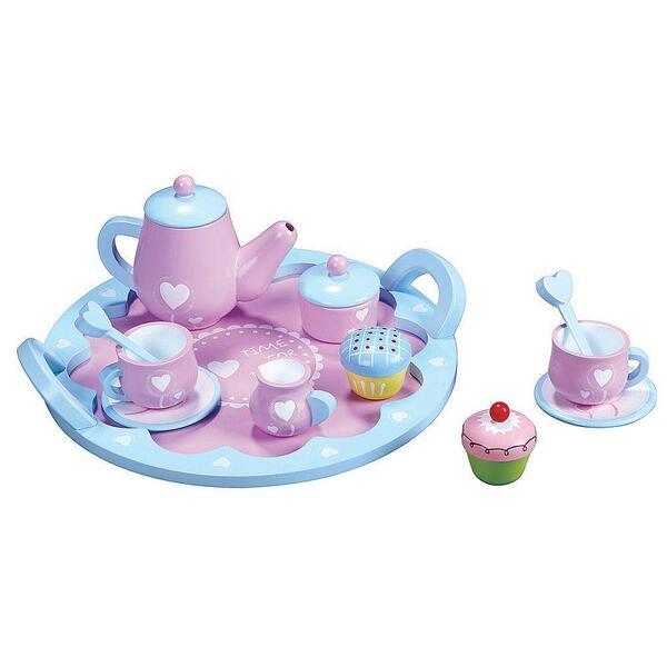 Lelin Toys, Дървен сервиз за чай, Сърца