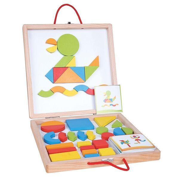 Lelin Toys, Магнитни форми и цветове в куфар