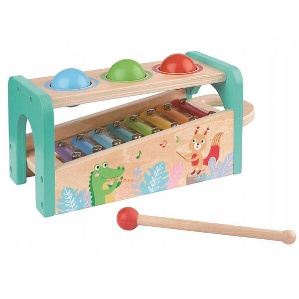 Lelin Toys, Музикален свят - бебешки ксилофон с чукче и топки