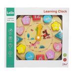 Lelin Toys, Дървен часовник-пъзел за обучение