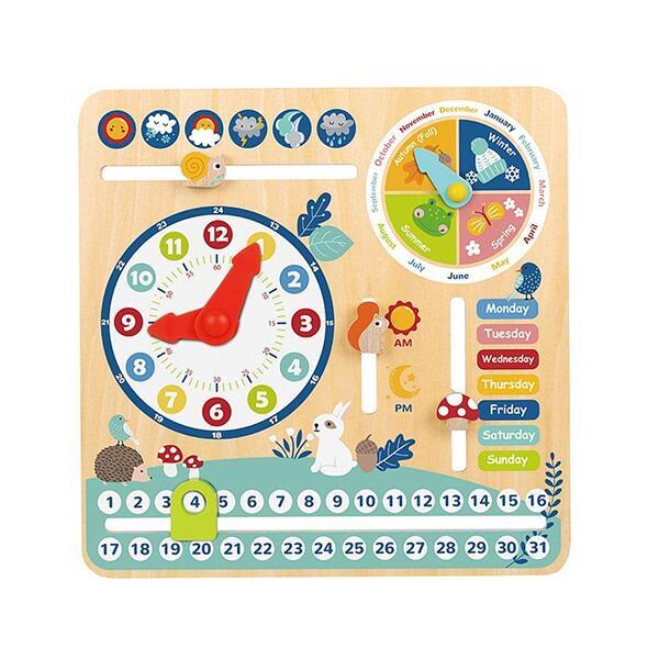 Tooky Toy, Дървен календар с часовник