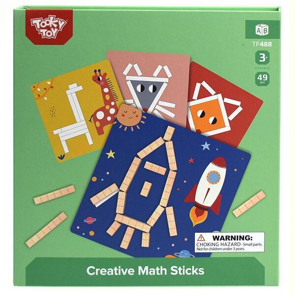 Tooky Toy, Креативна игра, Рисувай с магнитни математически пръчици