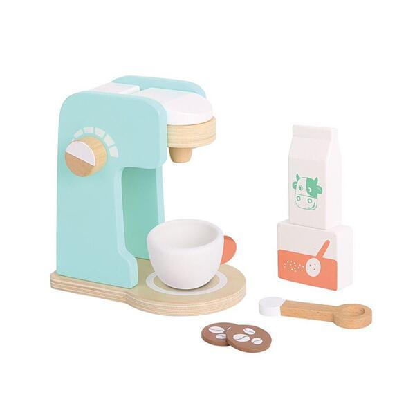 Tooky Toy, Дървена кафе машина с принадлежности