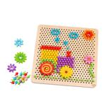 Tooky Toy, Дървена мозайка със зъбни колела, Влакче