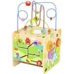 Tooky Toy, Голям дървен дидактически куб с активности, Ферма