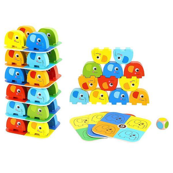 Tooky Toy, Дървена игра, Дженга със зарче, Слончета