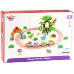 Tooky Toy, Джурасик парк - дървено влакче с релси и динозаври, 40 части