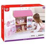 Tooky Toy, Приказен свят - дървена двуетажна къща за кукли, с обзавеждане и кукли