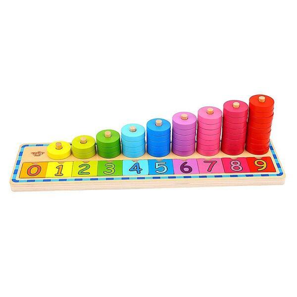 Tooky Toy, Дървена низанка, Научи се на броиш