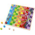 Tooky Toy, Дървени игри, Не се сърди човече и Змии и стълби, 2 в 1