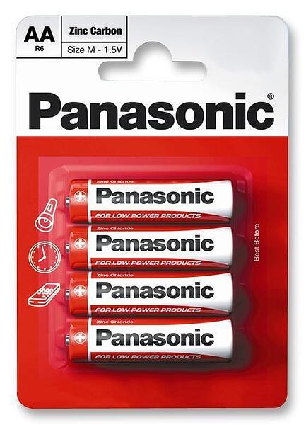 Panasonic Zinc Carbon AA Blister 4