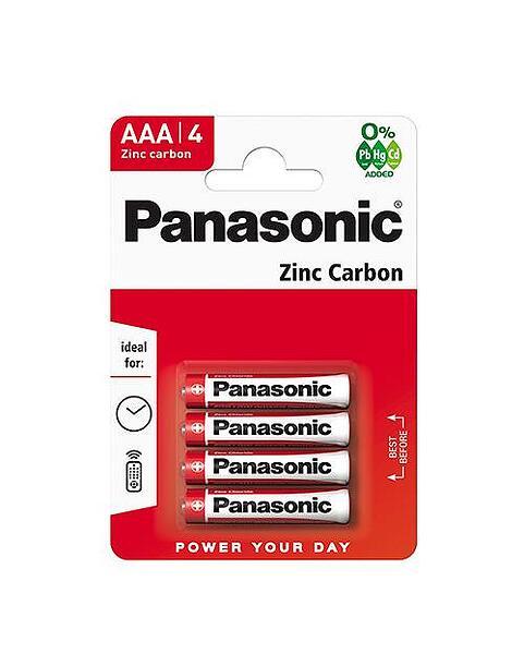 Panasonic Zinc Carbon AAA Blister 4